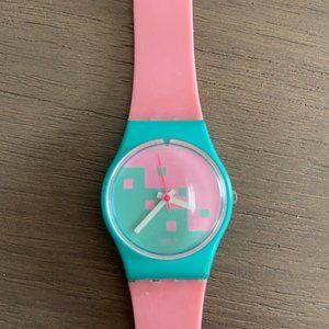 Vintage Swatch Watch Pink Cassata